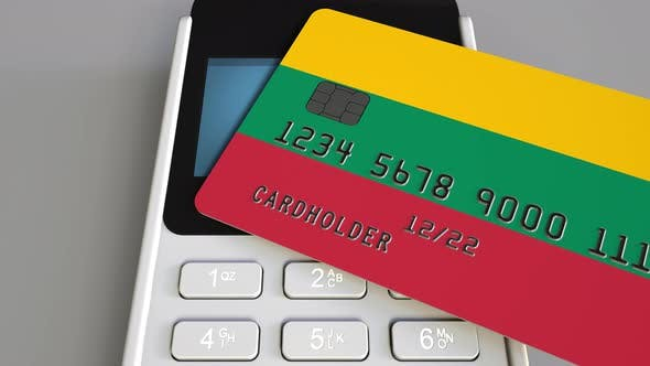 Thumbnail for Bank Card with Flag of Lithuania and POS Terminal