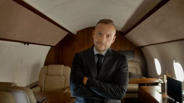 Thumbnail for Successful Businessman in Private Jet
