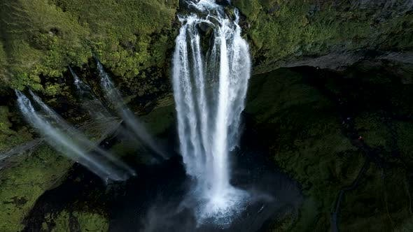 Thumbnail for Aerial Above The Exotic Waterfall Current