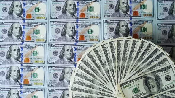 Rich background of american money