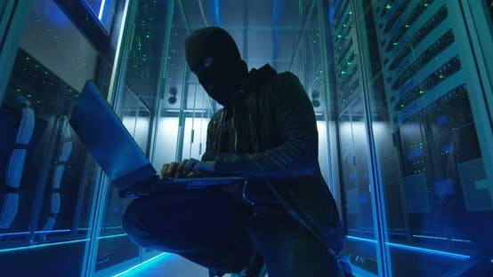 Thumbnail for Anonymous Hacker Breaking Into Server System