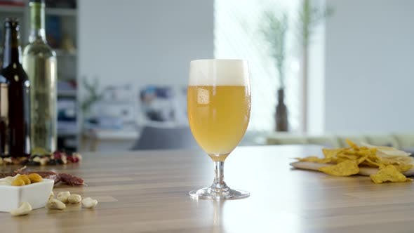 Thumbnail for Hand Place And Take Glass Of White Beer