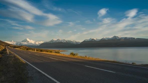 Thumbnail for Nouvelle Zélande Lake Pukaki route panoramique