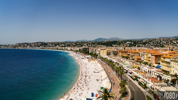 Thumbnail for Time-lapse Aerial View of Nice France