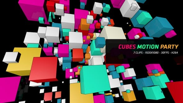 Thumbnail for Vj Loops - Cubes Motion Party 7 in 1