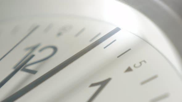 Thumbnail for Time passing slowly on analog clock shallow DOF 4K 2160p UltraHD footage - Shallow DOF clock-face ne