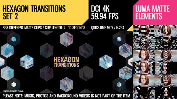 Thumbnail for Hexagon Transitions (4K Set 2)