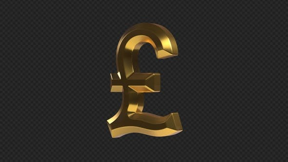 Pound Sterling Rotating Sign