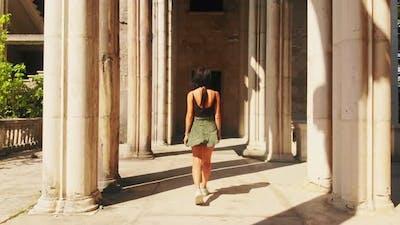 Woman  Admire Historical Architecture
