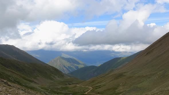 Thumbnail for Timelapse in mountains of Dombay national park in Russia