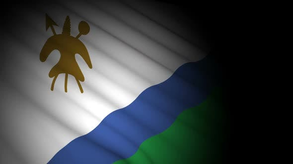 Thumbnail for Lesotho Flag Blowing in Wind