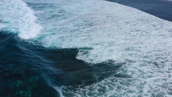 Thumbnail for Waves and Azure Water as A Background. View from High Rock at The Ocean Surface.
