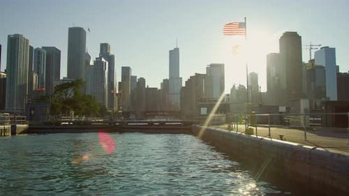 Chicago waterfront, USA