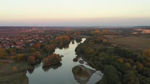 Aerial View Of Maritsa River In Bulgaria 2