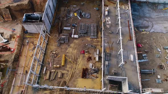 Aerial View of an Construction Area