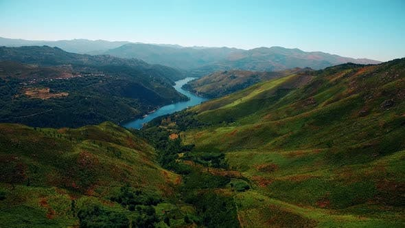 Aerial Footage Beautiful Nature Portugal.