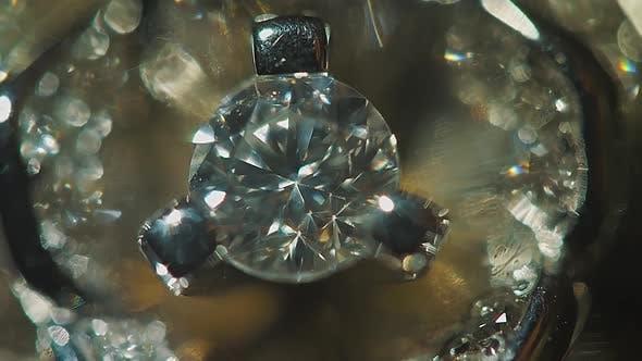 Thumbnail for Diamond Solitaire Ring Closeup In Dark Environment