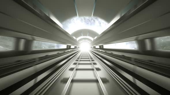 Hyperspeed Futuristic Train Tunnel Loop