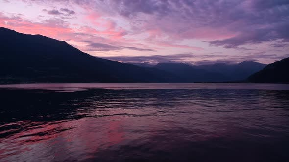 Scenic Summer Sunset at the Lake Como