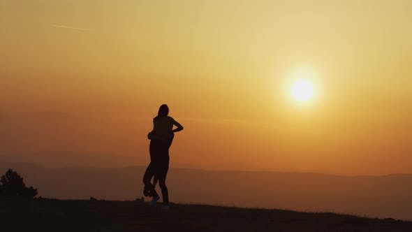 Couple at sundown