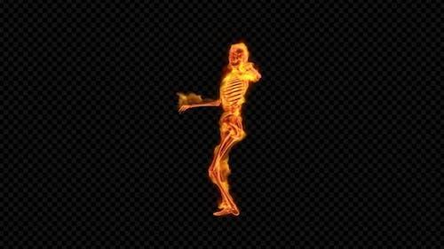 Fiery Skeleton Twist Dance