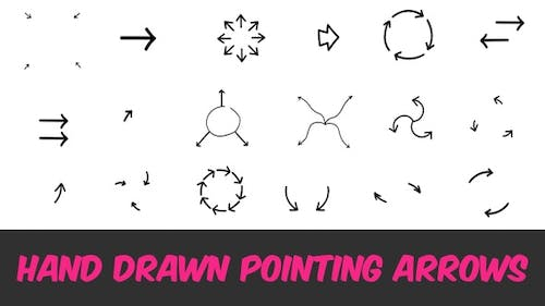 Hand Drawn Pointing Arrows