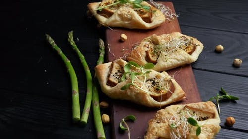 Puff Pastry Envelope with Smoked Cheese