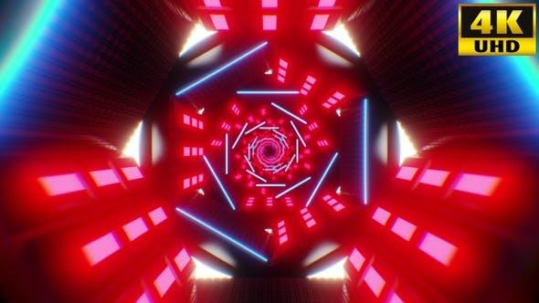 Thumbnail for Tunnel Retrowave Vj Loops Pack V4