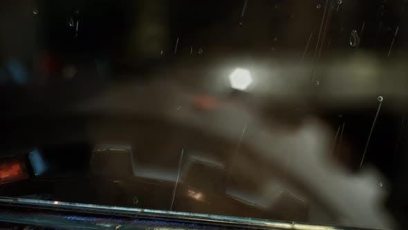 Thumbnail for Urban Szene bei regnerischen Nacht