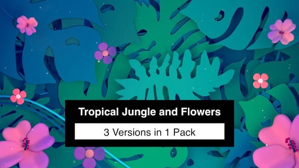 Thumbnail for Tropical Jungle and Flowers Pack