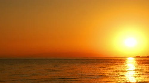 Yellow And Red Ocean Sunset
