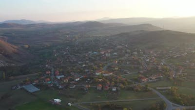 Flight To The Village Of Karamantsi In Bulgaria
