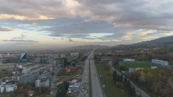 Thumbnail for Aerial View of of Traffic Congestion at a Motorway Junction in Sofia, Bulgaria