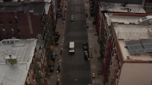 Thumbnail for Birds View of Chinatown, New York City Street