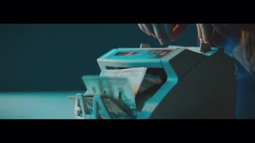 Geldzähler-Maschine