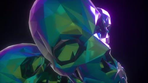 Retro Pyramid Skulls 4k