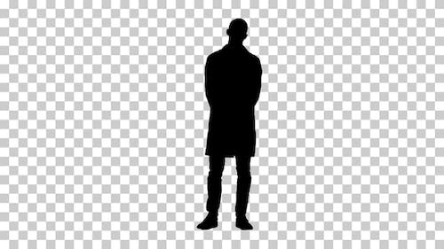 Silhouette doctor standing, Alpha Channel