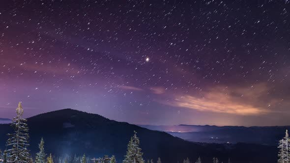 Thumbnail for Starry Time Lapse in Carpathian Mountains