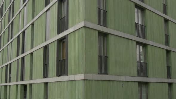 Corner of a green building