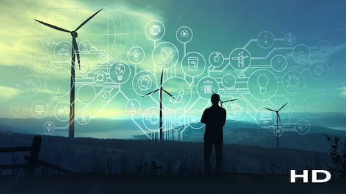 Electricity And Infographics Of The Future Ecology