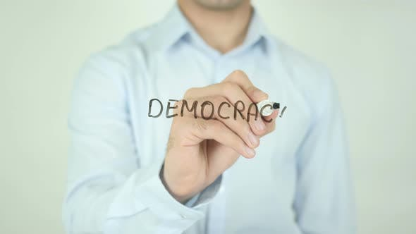 Thumbnail for Democracy, Writing On Screen