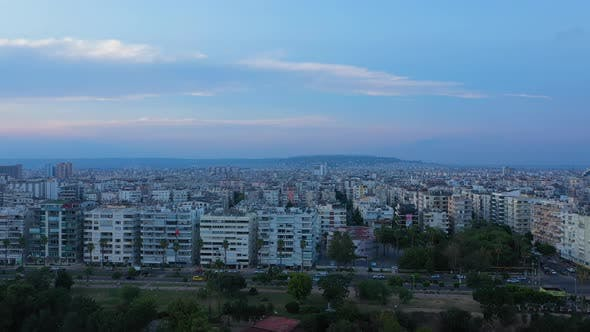 Thumbnail for Aerial View Antalya City At Sunset