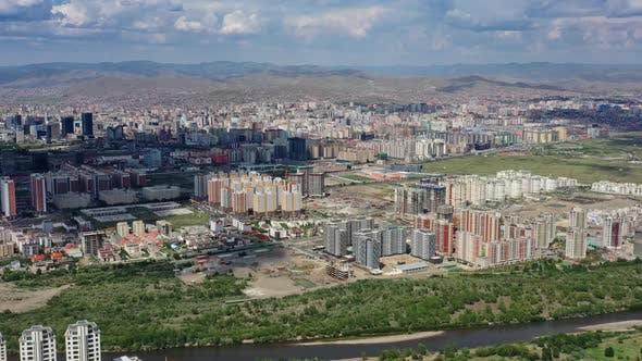 Aerial View of Ulaanbaatar Mongolia