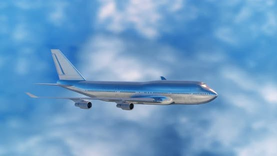 Thumbnail for Large Passenger Airplane Flying in Clouds