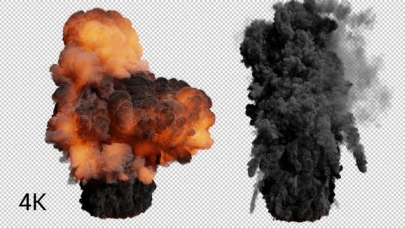 Thumbnail for Volcano  Explosion 4K