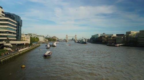 Thames River London Timelapse