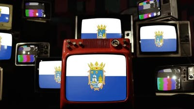 Flag of Santander, Spain, and Vintage Televisions.