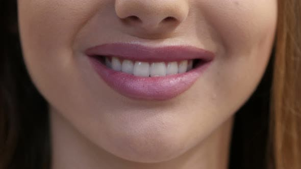 Thumbnail for Close Up of Smiling Girl Lips