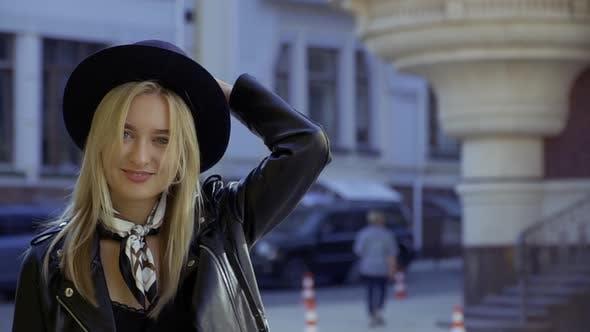 Thumbnail for Beautiful Girl in Black Hat