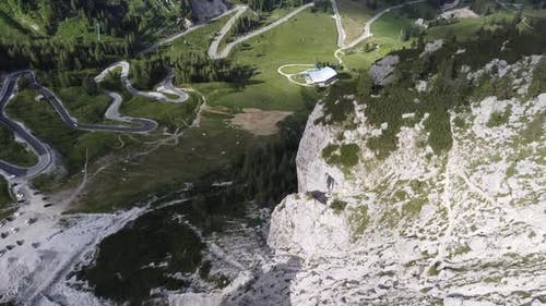 Aerial View From Dolomites Mountains in Italy